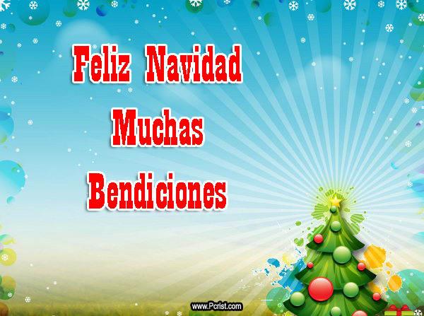 Imagenes que dicen feliz navidad muchas bendiciones - Tarjetas navidenas cristianas ...